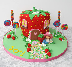 Strawberry Shortcake's House (Glorious Treats) Tags: birthday house cake strawberry doll candy strawberryshortcake