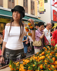 Kumquats for Wealth! (Nikita Hengbok) Tags: festival chinatown chinese stall chinesenewyear celebration lunarnewyear stalls kumquats yearoftheox