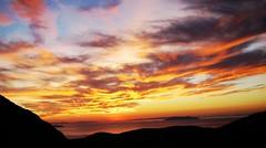 Ηλιοβασίλεμα στο Ξώμπουργο Sunset at Xombourgo