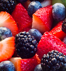 Berry Madness (Leo Druker) Tags: food macro colors fruit strawberry berries blackberry naturallight delicious blueberry edible ultimateshot