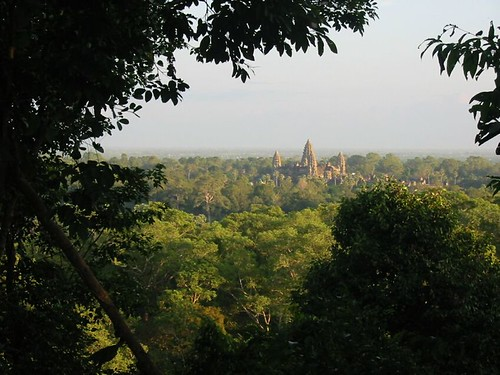 Avondzon op Angkor Wat