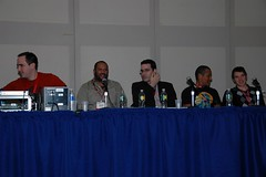 (l to r: Michael Jelenic, James Tucker, Ivan Cohen, Phil Morris, and Todd Casey