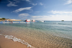 Sharm El Sheikh. Naama Bay. (WomEOS) Tags: travel bridge boy people holiday beach boat redsea egypt sharmelsheikh 2009 canon1740 naamabay