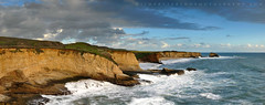 Panther Beach Lookout - Davenport, California (Jim Patterson Photography) Tags: ocean california ca longexposure sea panorama santacruz seascape beach clouds landscape coast rocks waves pacific pano shoreline panoramic shelf highway1 coastal shore lowtide intertidal bluffs davenport shelves majors sevenmilebeach santacruzcounty pantherbeach rockyshore landscapephotography nikkor3570mm oceanscape nikond300 holeinthewallbeach beneathblueseas beneathblueseascom jimpattersonphotography jimpattersonphotographycom seatosummitworkshops seatosummitworkshopscom