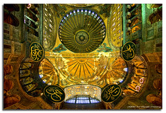 Hagia Sophia :: Interior Domes (DanielKHC) Tags: digital turkey interestingness high nikon bravo dynamic istanbul fisheye explore range fp frontpage dri sophia hdr blending hagia d300 dynamicrangeincrease danielkhc explorefp