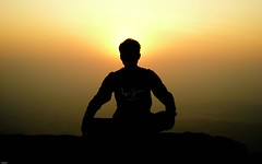 the sage ([s e l v i n]) Tags: sunset india nature trekking trek insane sage western maharashtra ahmednagar ghats harishchandragad konkankada selvin ©selvin selvinkurian