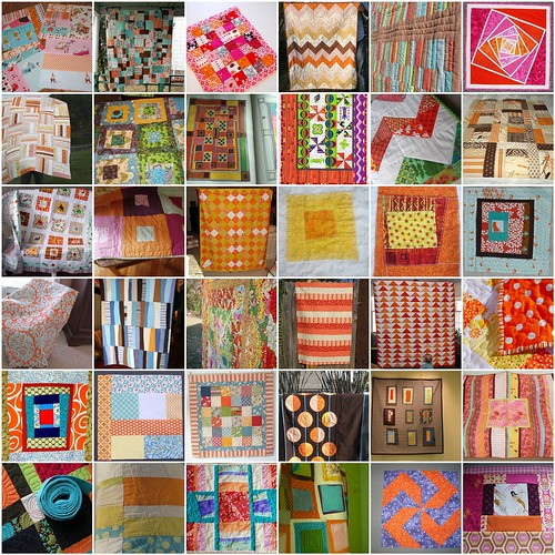 Intermittent Inspiration: Quilts with Orange