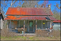 Think someone lives here? (Black.Doll) Tags: florida gone hawthorne tinroof crackerhouse alachuacounty