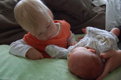 Siblings Staring