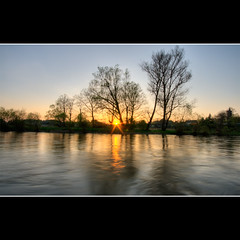 s u n s e t (Pawel Papis Photography) Tags: trees sunset reflection water river poland hdr boleslawiec sigma1020 dolnoslaskie canon400d bobrriver