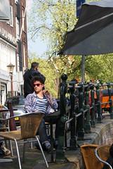 People (Iam Marjon Bleeker) Tags: people holland amsterdam sunglass terras jordaan mensen egelantiersgracht zonnenbril caftsmalle