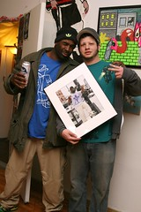 Sharkula and Rafe (fotoflow / Oscar Arriola) Tags: show portrait chicago david art st photograph benefit sharkula thig alfreds rafe dawud rasool