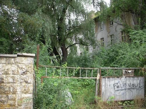 Abandoned Gated Street