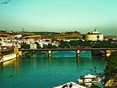 Puente de Triana (Di Gutti (diegogutierrez79@gmail.com)) Tags: bridge espaa rio river puente photo sevilla spain guadalquivir seville andalucia explore gettyimages sanjosdelarinconada diegogutierrez sevillan         sevillban