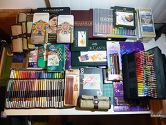 Colored Pencil Sets Collection 1 (betolung) Tags: derwent coloredpencils prismacolor fabercastell woodenpencils artistspencils artsuppliesreviews stabilocarbothello