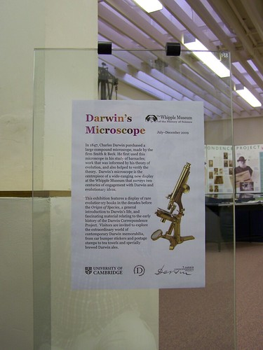 Darwins Microscope, Whipple Museum, University of Cambridge