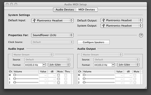 Soundflower - Audio MIDI Setup