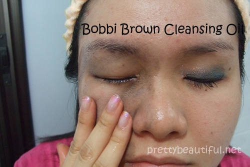 bobbi brown cleansing oil how to use