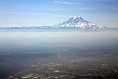 Mt. Rainier (soleil1016) Tags: mountain mountains window plane canon airplane landscape volcano washington northwest valley mountrainier rainier cascades wa mtrainier puyallup xsi 1755mm 450d