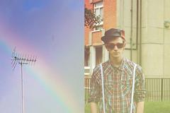 A guy called Nick (Fabio Astone) Tags: city boy sky man london sunglasses fashion vintage underground rainbow moda uomo vogue cielo indie arcobaleno londra alternative citt ragazzo occhiali