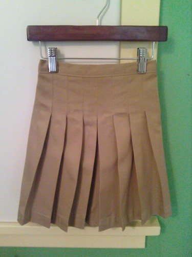 pleated skirt after starch