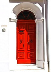 the red door (paolo brunetti) Tags: door red house home window wall casa arc malta finestra porta isle arco gozo valletta lavalletta dacia paololivorno