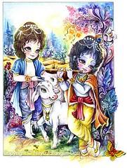 Krishna and Balarama - ISKCON desire tree (ISKCON Desire Tree) Tags: demon krishna radha vrndavana balaram iskcon putana devaki radharani kamsa bakasura aghasura