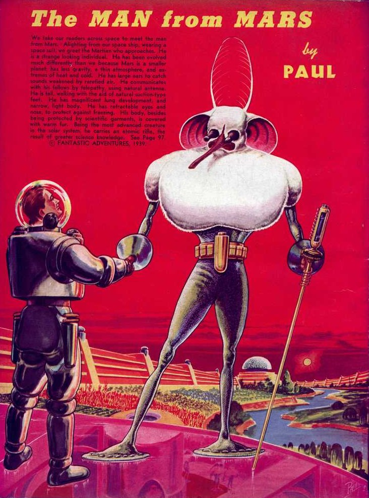 Paul - The man from Mars (Fantastic Adventures v01 n01