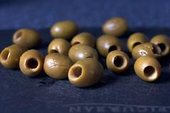18 green olives