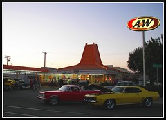 Saturday Night at the Drive-In (Dusty_73) Tags: auto california county street cruise usa hot cars beer night america restaurant drive stand camino united w central diner el drivein camaro valley hamburger rod elcamino states roadside custom milkshake root nite aw visalia automobilia tulare a