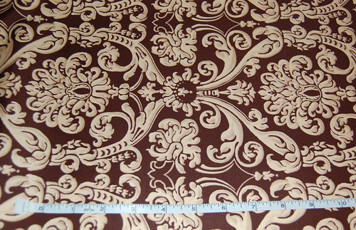 Antique Brown Damask
