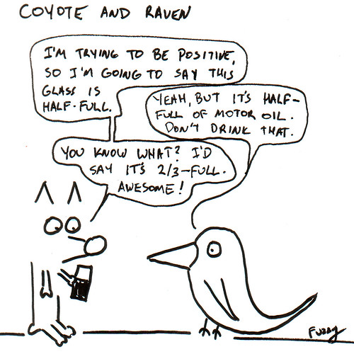 366 Cartoons - 199 - Coyote and Raven