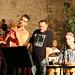 (l to r):  Duncan Hopkins (bass), Paul Jayasinha (trumpet), Gilad Atzmon (sax), Eddie Hick (drums), Felix Gibbons (percussion)