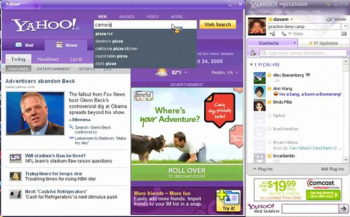 Yahoo Messenger with Search Assist