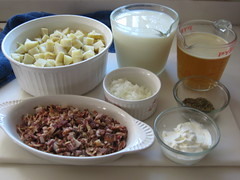 Ingredients for Creamy Baked Potato Soup