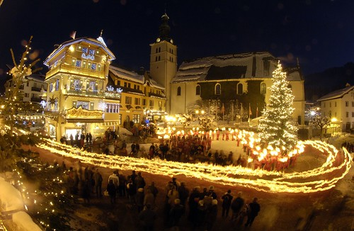 Christmas in Megeve, France by JP Noisillier