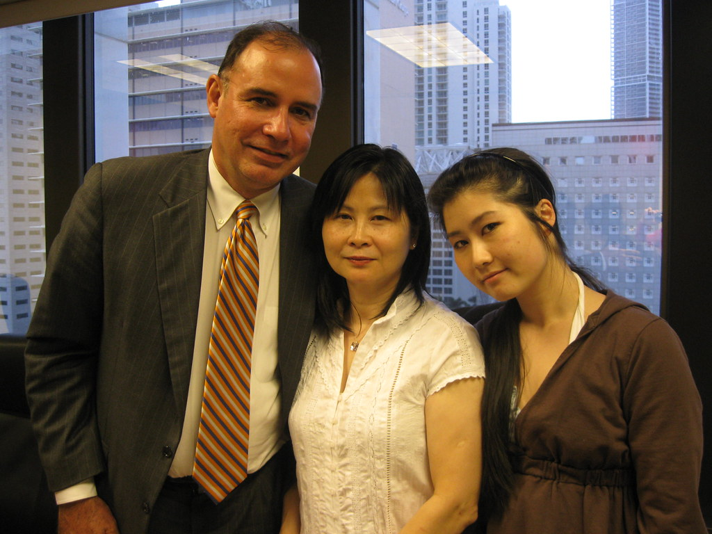 Jim, Ms. Chen and daughter, Lisa