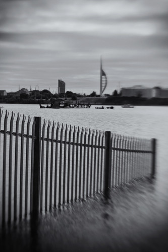 Forton Lake, View Toward Tower. Single Glass Optic f/4, Lensbaby Composer.
