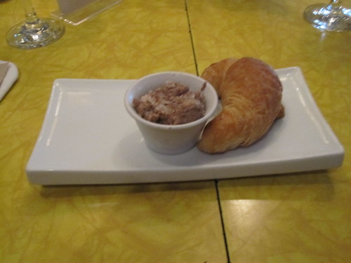 Croissant with cretons at les Cabotins