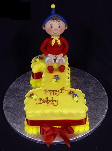 Figure One Birthday Cake with Handmade Sugarpaste Model of Noddy