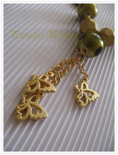 altınlı küf yeşili kolye