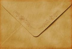 * Antique Floral Envelope *