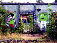 Consonno 2009-01 (Felson.) Tags: red muro verde green abandoned colors wall graffiti ghosttown rosso brianza abandonedplace consonno