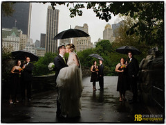 Rain Can't Get Us Down (Ryan Brenizer) Tags: nyc wedding love composite groom bride nikon kiss centralpark flash gothamist umbrellas d3 strobist 2470mmf28g
