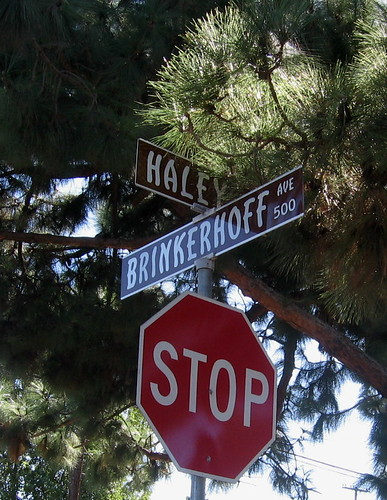 Brinkerhoff Street Sign