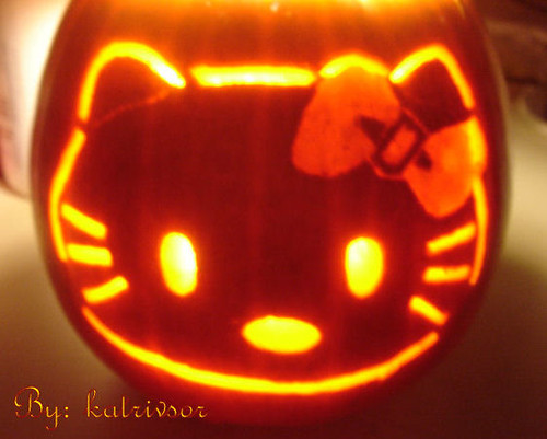 calabaza de Hello Kitty