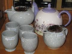 Japanese teasets at the tea shop