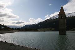 Curon Venosta ( big_biffi ) Tags: campanile diga lagoartificiale curonvenosta
