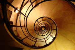 Spiralling into the Vortex (Simon-) Tags: paris france spiral staircase arcdetriomphe pleasantlytilted