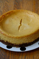Pumpkin-Ricotta Cheesecake whole